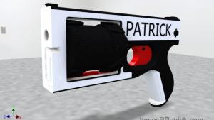 Revolver printat 3d de un student