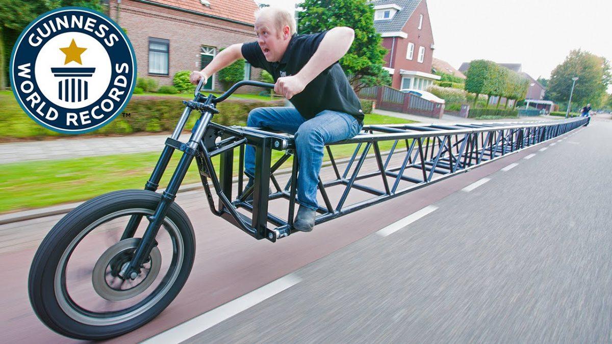 Cea mai lunga bicicleta din lume are 35.6metri