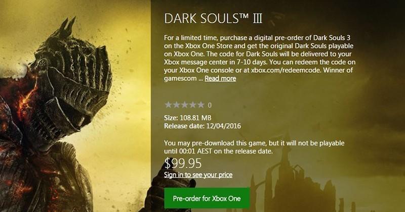Dark Souls 3 – Bonusuri la precomanda: primul joc sau soundtrack-ul