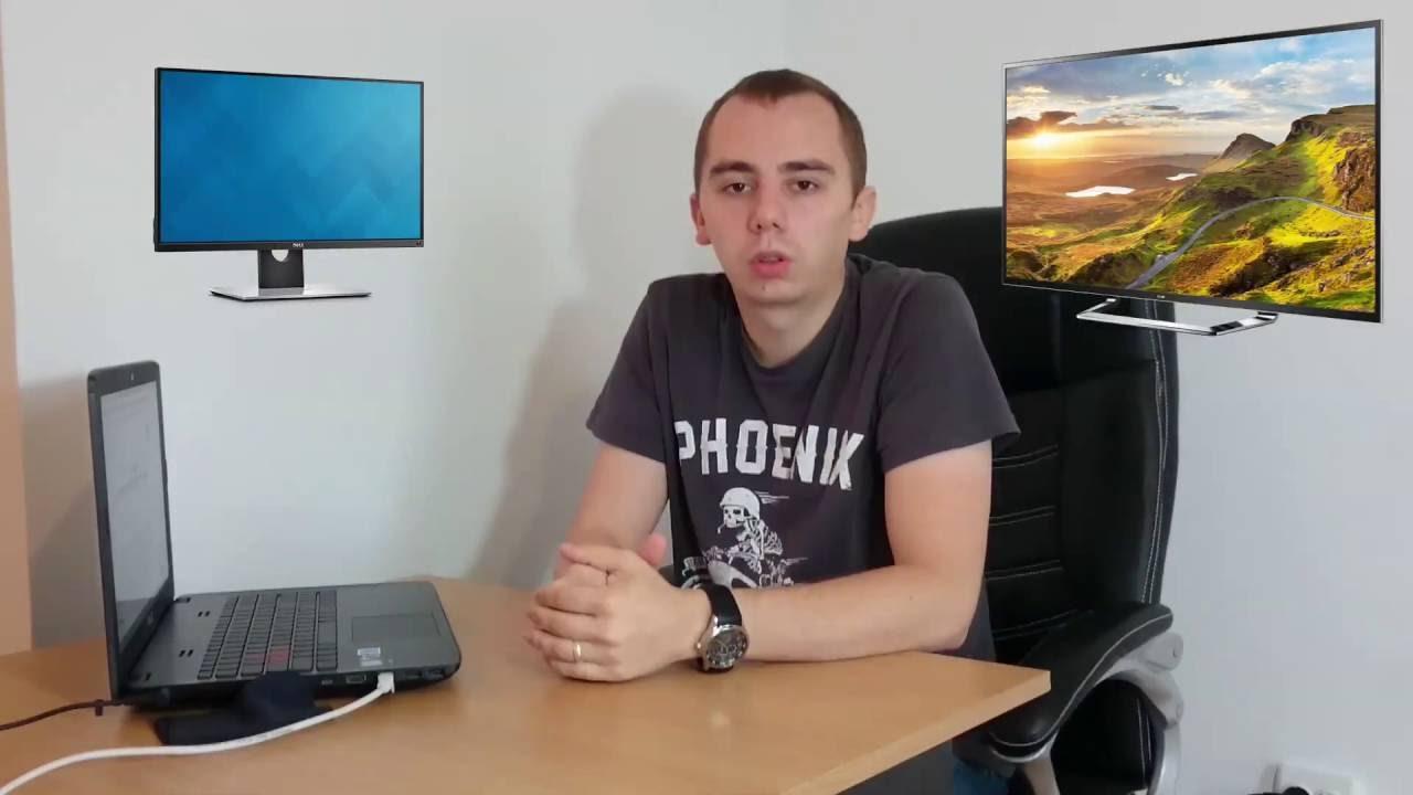 3 minute despre monitor vs televizor pentru PC