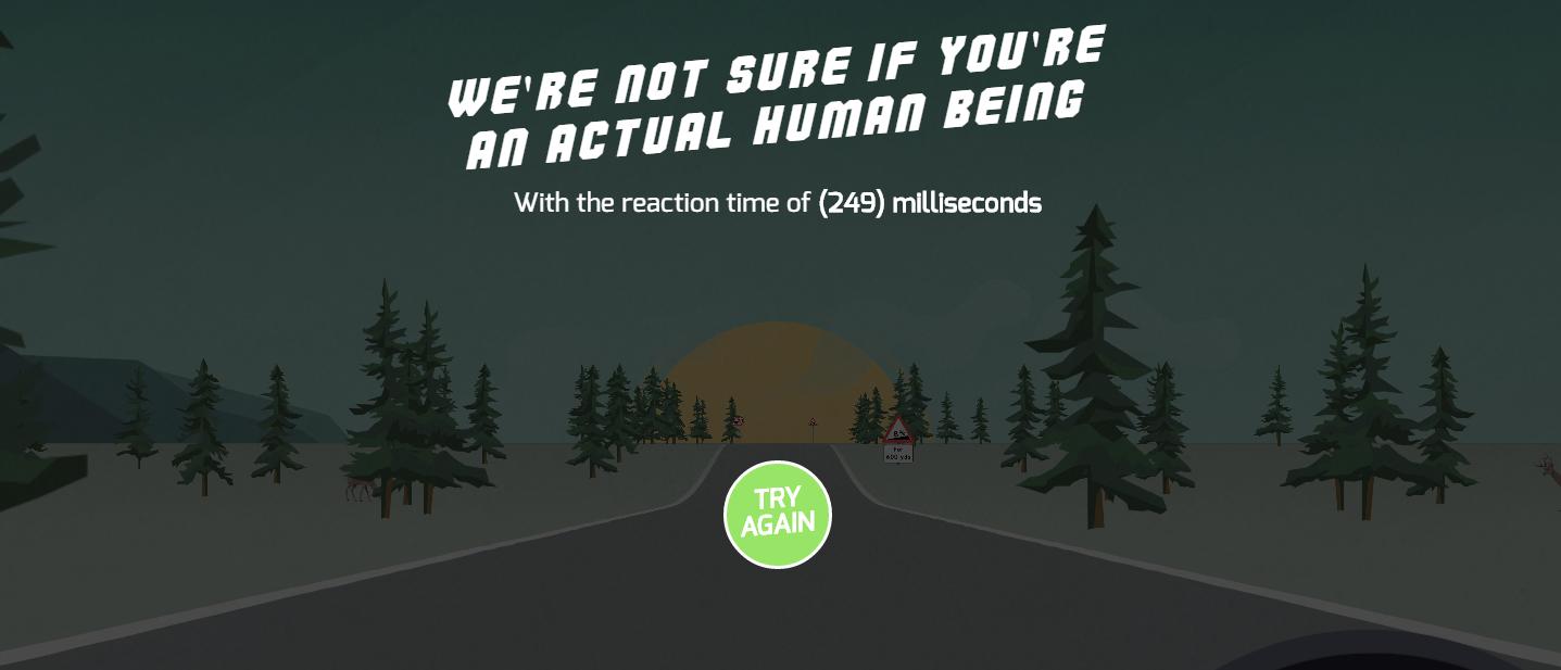 Ce timp de reactie ai la volan?