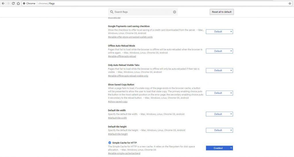 setari avansate de viteza pentru browserul google chrome