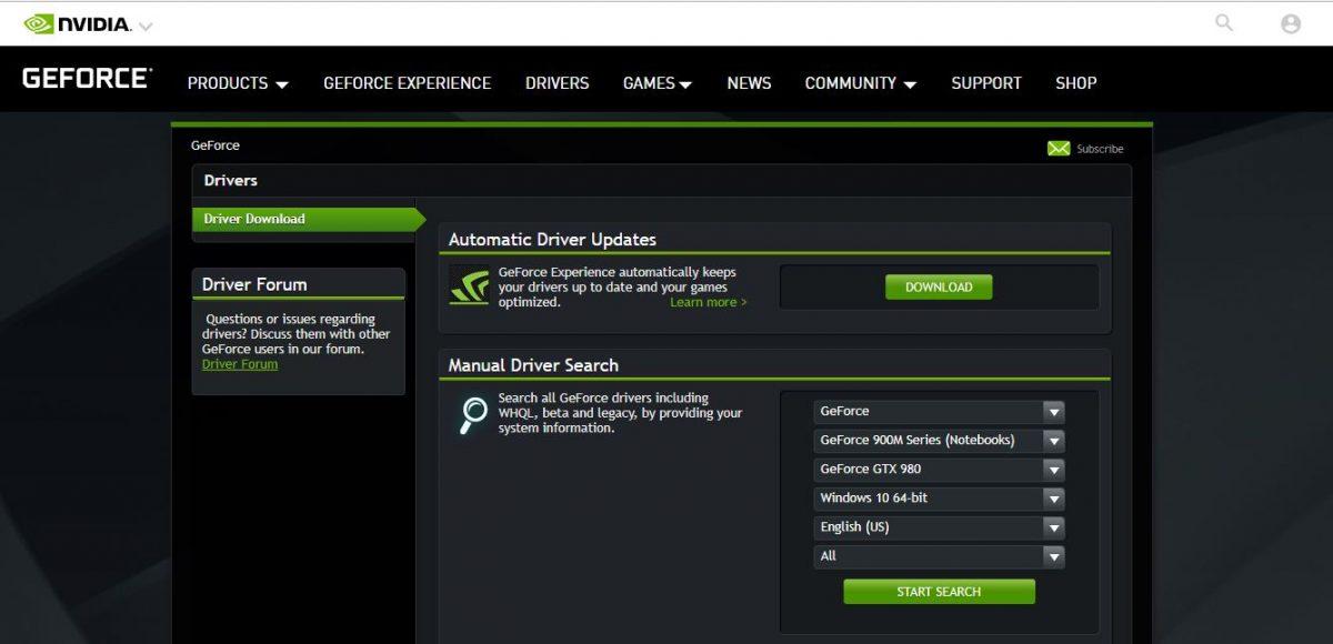 nvidia drivere 32bit