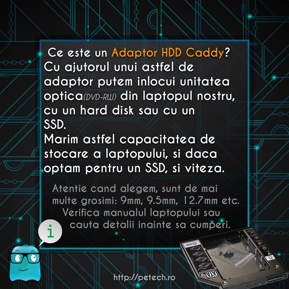 Ce este un Adaptor HDD Caddy?