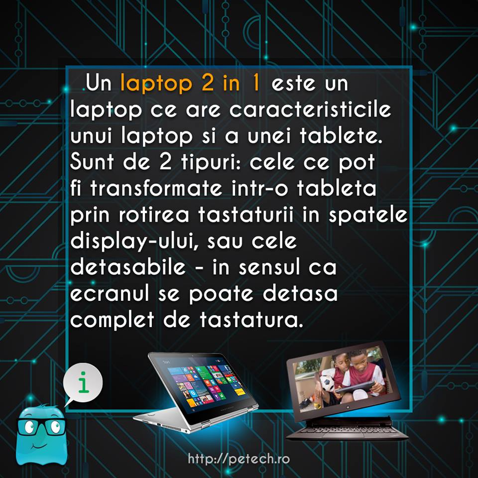 Ce este un laptop 2 in 1?