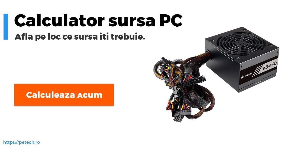 Calculator putere sursa PC – ceva util