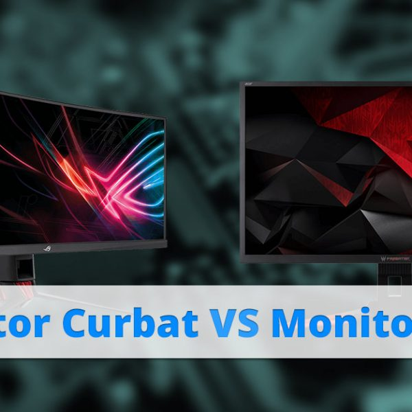 Monitor curbat sau monitor plat? Cum alegi?