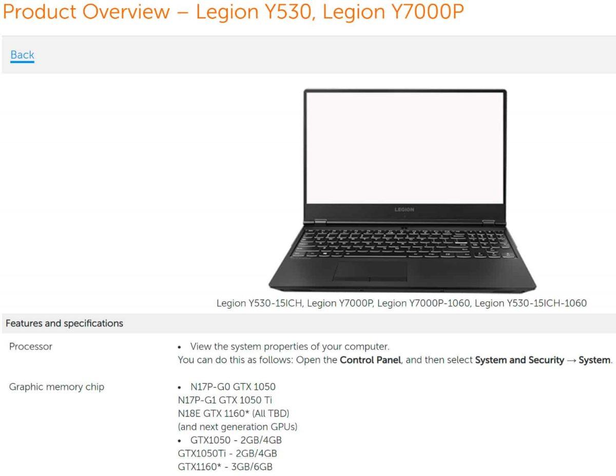 Nvidia GTX 1160 va veni pentru laptopuri