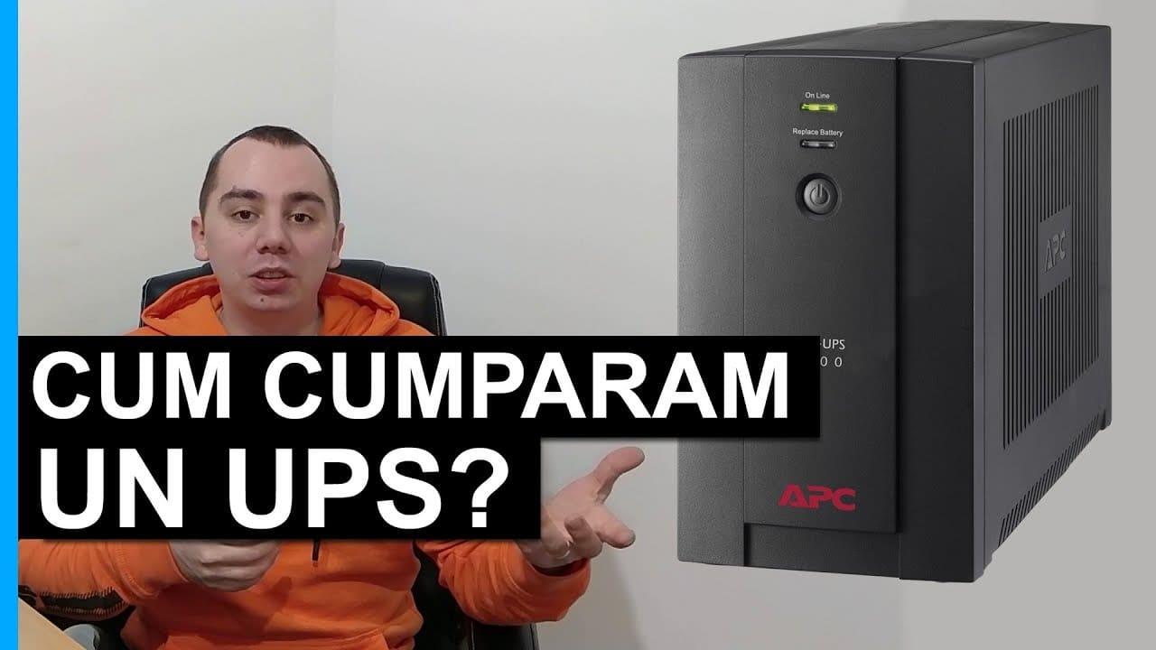 Cum cumparam un UPS? Ce este un UPS?