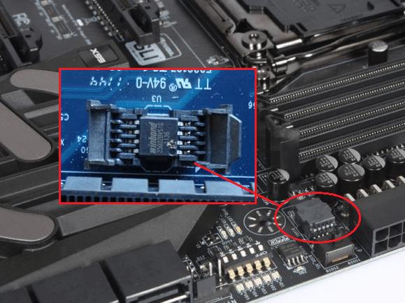 o varianta de chip bios pe o placa de baza EVGA