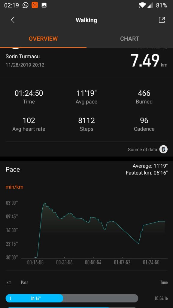 monitorizare sport xiaomi mi fit
